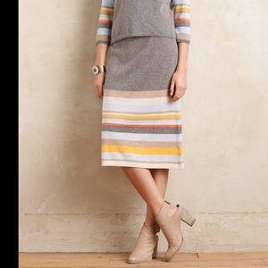 NWT Moth M wool knit skirt soft pastel stripes